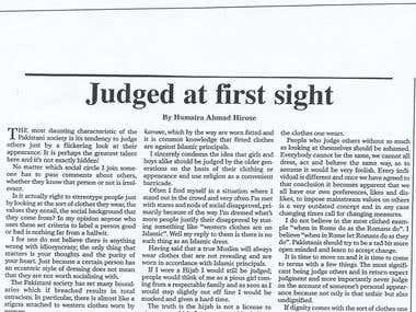 Judged at First Sight