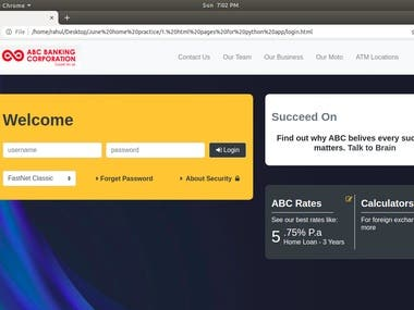 Static Project using bootstrap 4 (Project Number 6)