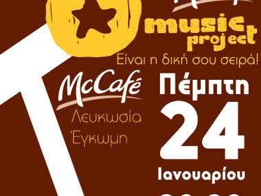 McCafé Music Project - Promotional Banner