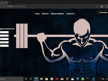 A Gym Website Design.