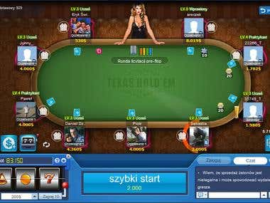 Poker game translation (English -> Polish)
