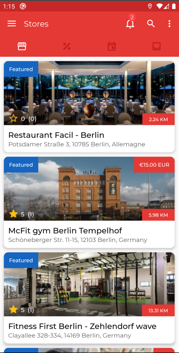 NearbyStores Android App