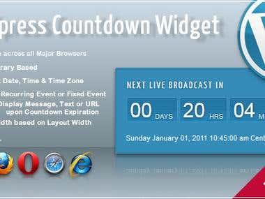 Wordpress Broadcast Coutdown Widget