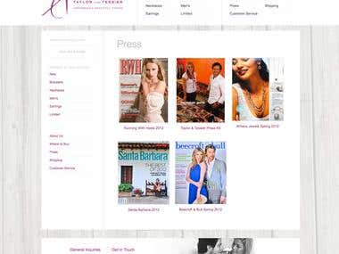 Wordpress eCommerce Website Redesign