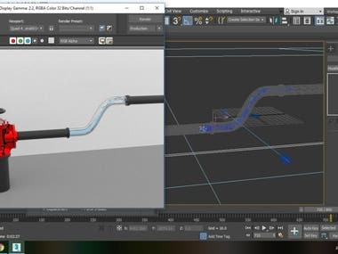 fluid simulation with 3ds max and realflow.