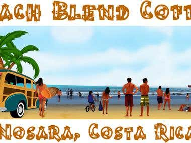 Beach Blend Coffee Nosara Costa Rica