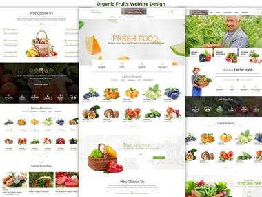 Organic Fruits Website Design