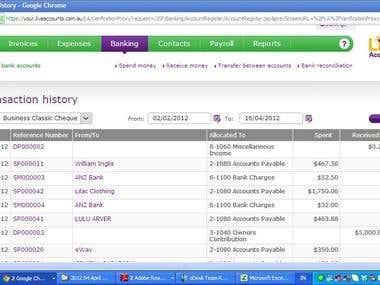 Accounting & Bookkeeping using MYOB LiveAccounts
