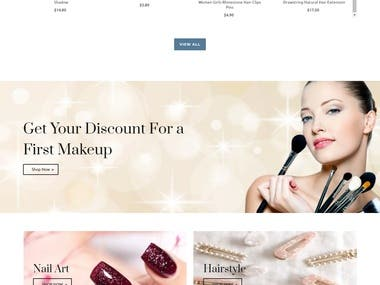 Create Cosmetic Brand Shopify store