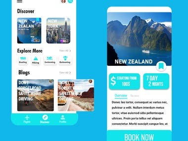 Trip Booking Mobile App UI/UX Design