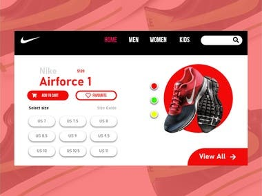 Nike Landing Website UI/UX Design