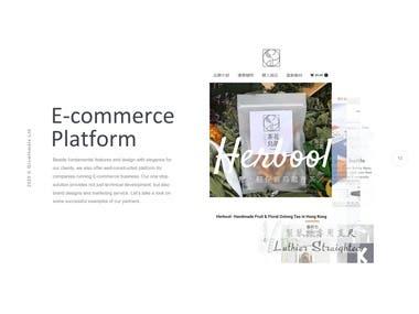 E-commer Platform & Web Design