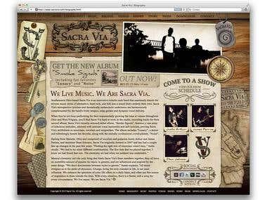 Sacra Via Band Website