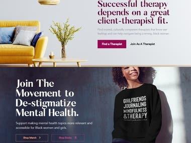 https://therapyforblackgirls.com/ - WordPress eCommerce Site