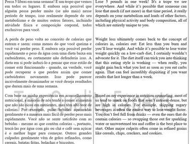 Translation - Portuguese to English