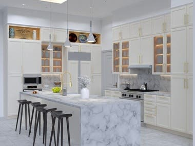 Kitchen Renders (Sketchup V-Ray)