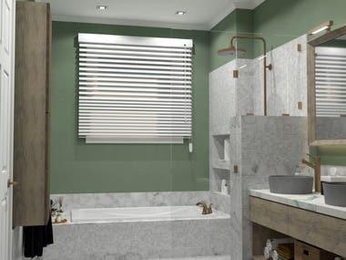Bath Renders 2 (Sketchup V-Ray)
