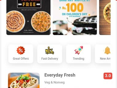 Grocery App Android IOS (User, Delivery boy ,Vendor) Apps