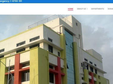 Hospital Website wordpress with admin panel