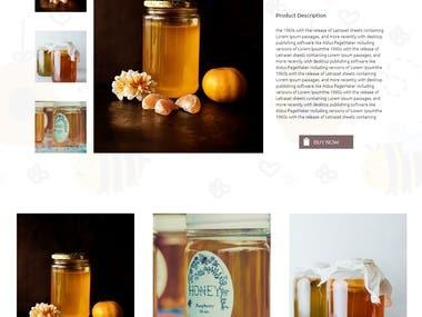 Honey Landing Page Design