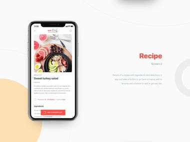WeChef Application (Android and IOS)