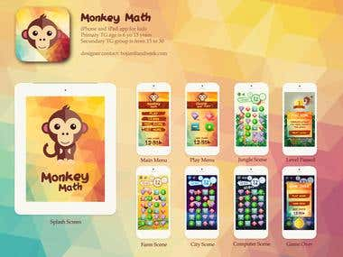 Monkey Math iOS App
