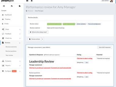 Performance Management Webapp