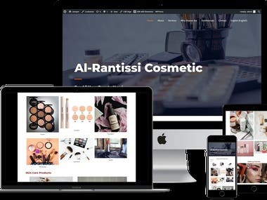 Designed and developed Al-Rantisi Cosmetic, using WordPress