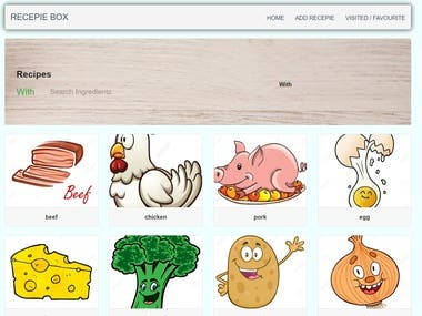Recepie Finder Website using Flask