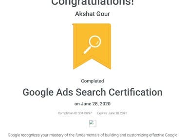VIEW - GOOGLE ADS SEARCH CERTIFICATION