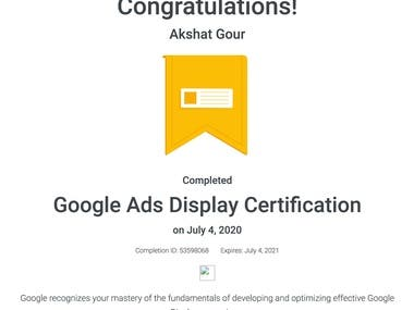 VIEW - GOOGLE ADS DISPLAY CERTIFICATION