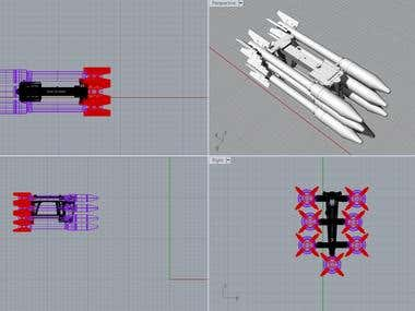 Scale model APU-14u + rockets C-3K