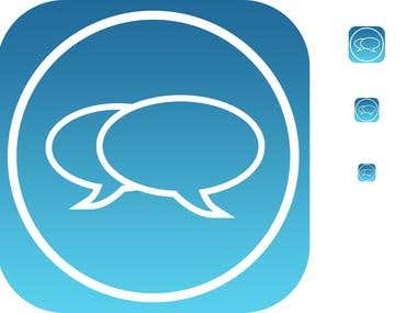 Messaging IOS7 Style App Icon