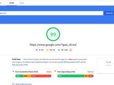 Web Pages Optimization