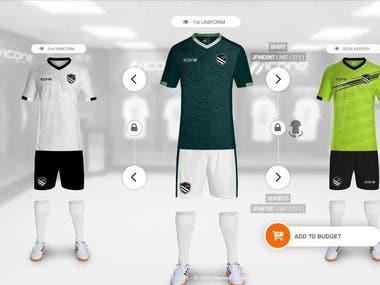sports cloth simulator