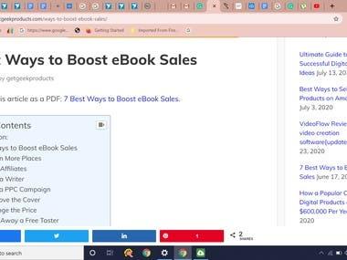 Content Writing for a digital marketing website