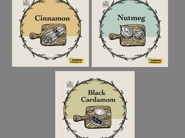 Packaging Design -Spices Labels