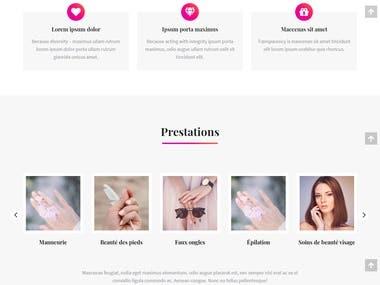 Salon website (Beaute onglerie)