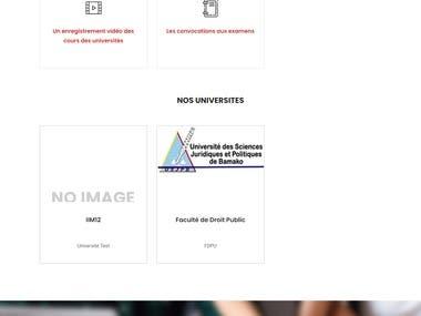College management website (Student box africa)