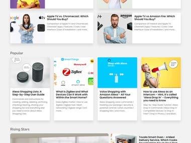 https://www.smarthome.news/ A Custom PHP News Website
