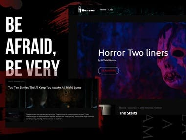 Horror | Online Blog for Sharing Horror Stories