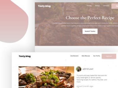 Tasty Blog | Online blog for Sharing Recipes
