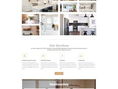 Sample Architect website design