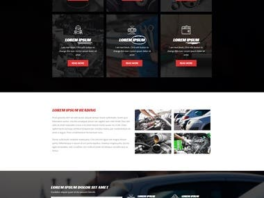 Sample Auto website