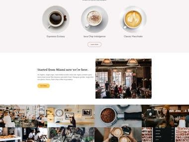 Sample Cafe website
