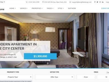 Real Estate Web Site - WordPress