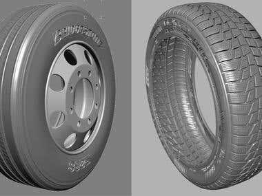 3D tire models