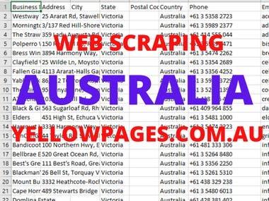 AUSTRALIA DIRECTORY WEB SCRAPING