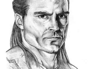 Gannicus(Dustin Clare) portret