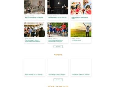 Blog Website (Laravel + VueJS)